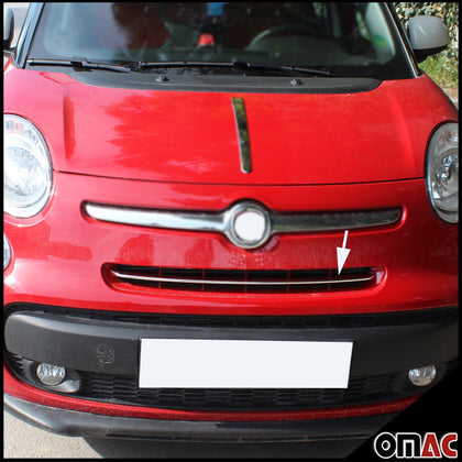 Fits Fiat 500L Popstar 2013-2017 Chrome Front Bumper Grille Cover Trim S. Steel Omac Shop Usa - Auto Accessories