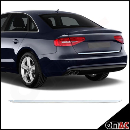 For Audi A4 B8 2010-2016 Chrome Trunk Tailgate Moulding Trim Cover S.Steel Omac Shop Usa - Auto Accessories