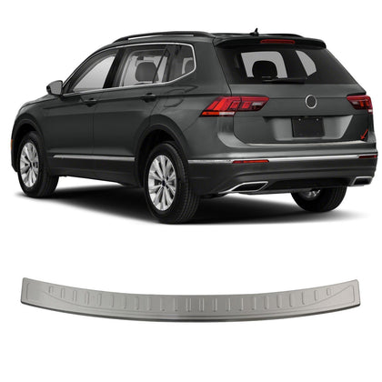 Fits VW Tiguan 2018-2020 Chrome Rear Bumper Guard Trunk Sill Protector Brushed