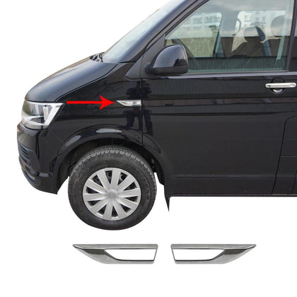 Fits VW Transporter 2015-2019 Chrome Side Signal Indicator Trim Cover 2 Pcs Omac Shop Usa - Auto Accessories