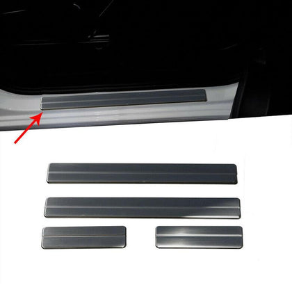 Fits Ford Fiesta 2011-2019 5 Dr Chrome Door Sill Scuff Plate Stainless 4 Pcs Omac Shop Usa - Auto Accessories