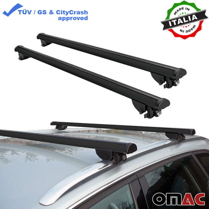 Roof Rack Cross Bars Cross Rail Aluminum Black 2 Pieces For Volvo XC40 2018-2020