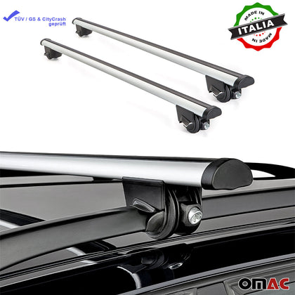 Roof Rack Cross Bars Luggage Carrier Silver Fits Audi A6 Allroad C6 2007-2013