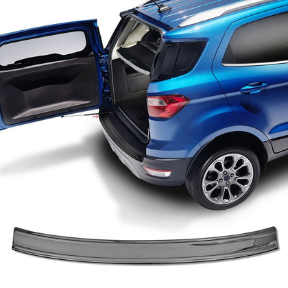 Dark Chrome Rear Bumper Guard Protector Brushed Fits Ford EcoSport 2018-2020 - Omac Shop Usa - Auto Accessories