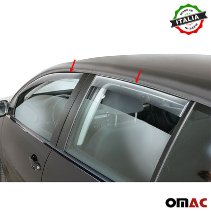Omac usa - Side Window Smoke Vent Visor Rain Guards Air Deflector for DODGE JOURNEY 2009- - Omac Shop Usa - Auto Accessories