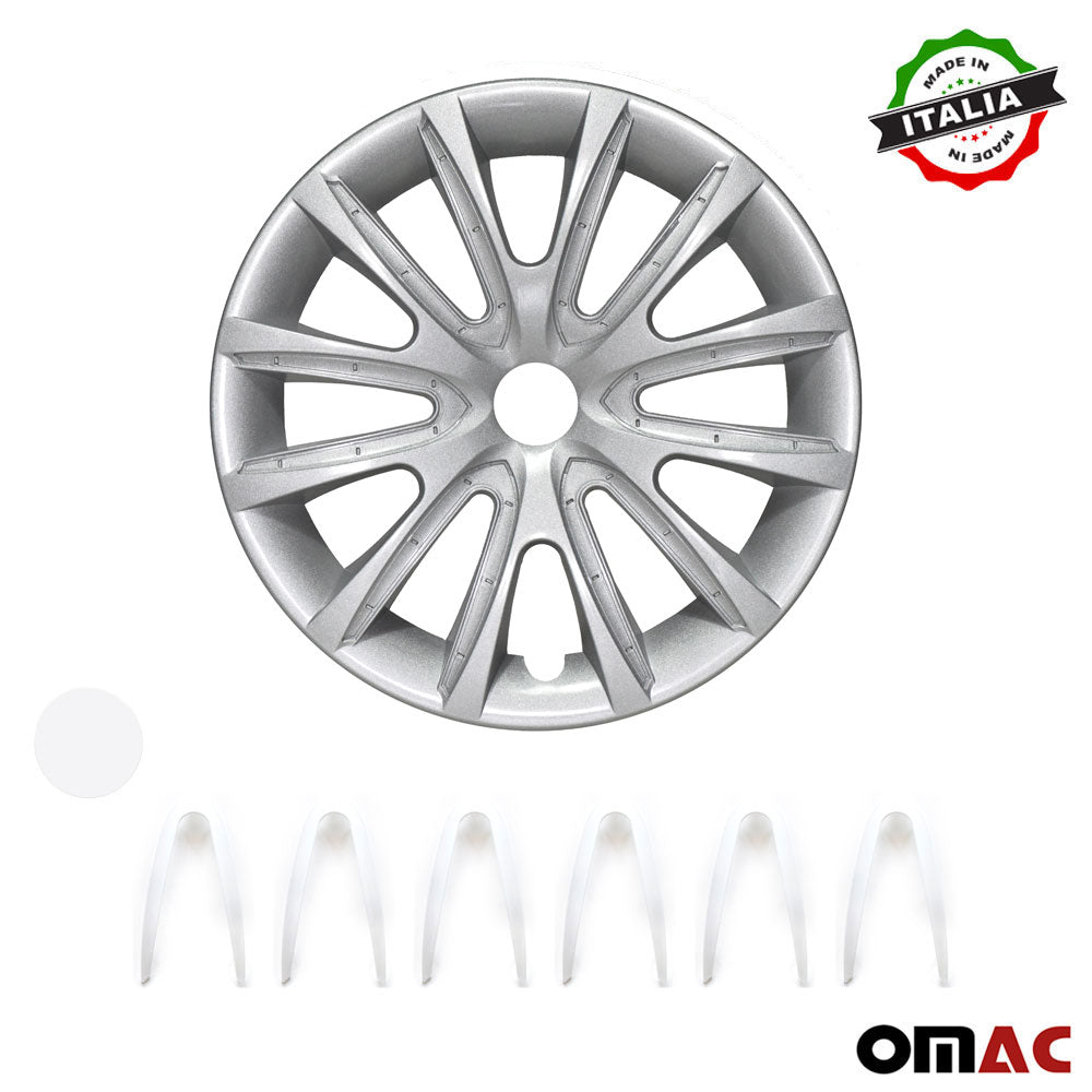 "16"" Inch Hubcaps Wheel Rim Cover Gray with White For Nissan Sentra Set"