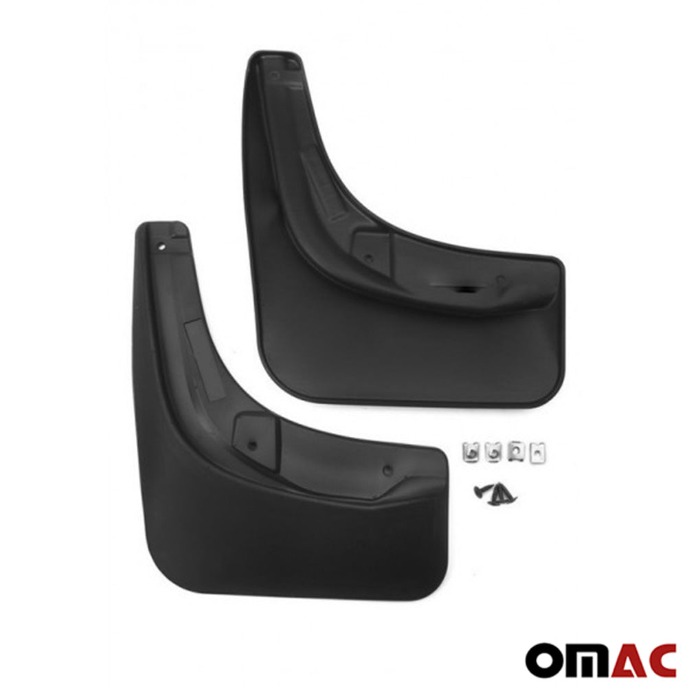 Fits VW Tiguan 2007-2016 Rear Mud Flaps Molded Black Splash Guards 2 pcs