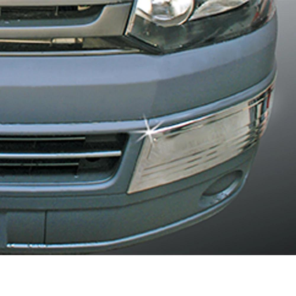 Fits VW Transporter 2010-2015 Chrome S.Steel Front Bumper Guard Protector 2 Pcs