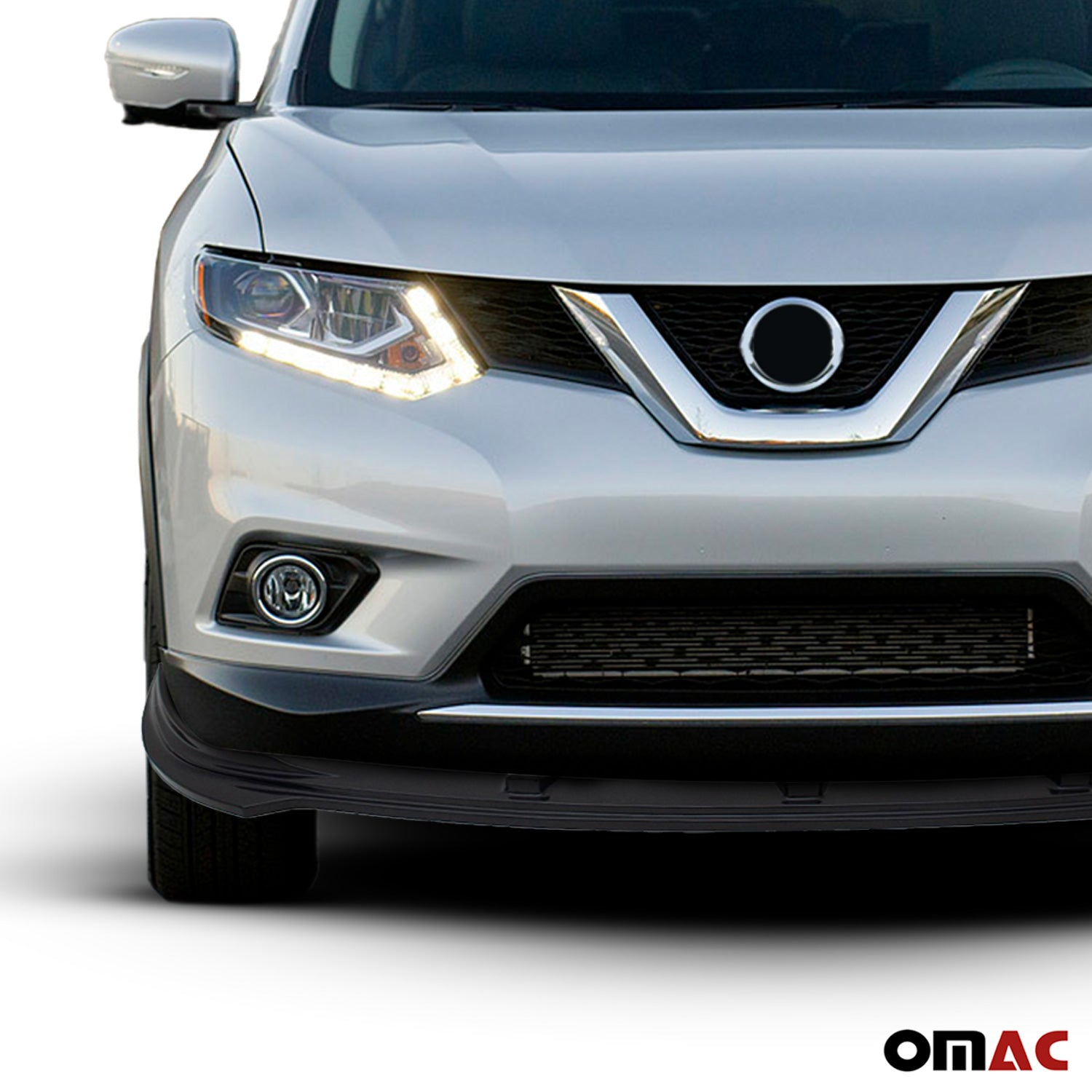 Black Abs Plastic Front Bumper Splitter Cover Fits Nissan Rogue 2014-2016