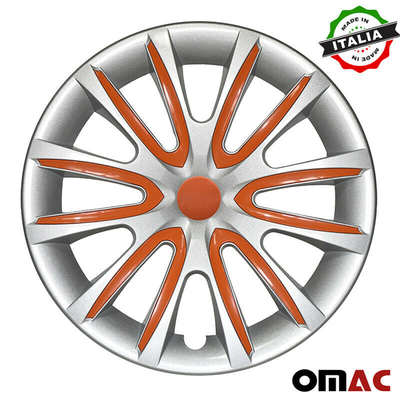 "16"" Inch Hubcaps Wheel Rim Cover Gray with Orange Fits Jeep Grand Cherokee Set"