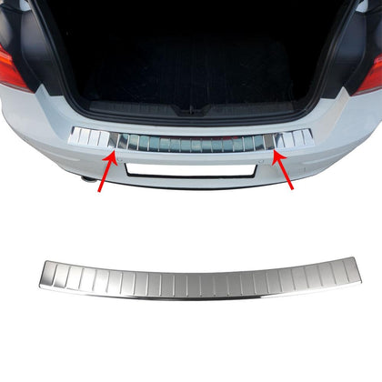 For BMW 1 Series F20 2011-2018 Chrome Rear Bumper Guard Trunk Sill Cover S.Steel