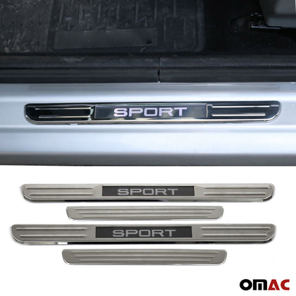 18 Inch Chrome LED Sport Door Sill Cover Stainless Steel 4 Pcs Fits MB E Class
