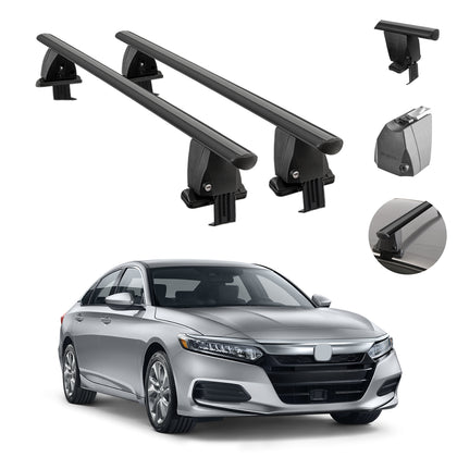 Fits Honda Accord 2018-2021 Smooth Top Roof Rack Cross Bar Carrier Rail Black