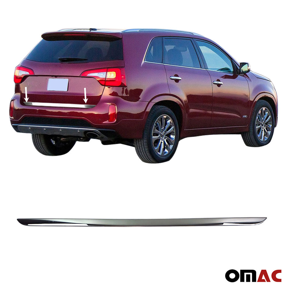 Chrome Tailgate Trunk Lid Protect Cover Trim S.Steel for Kia Sorento 2016-2019