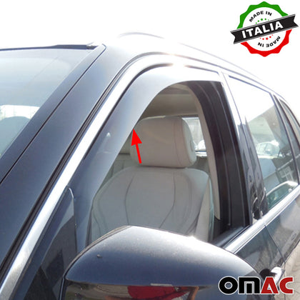 Omac usa - Side Window Smoke Vent Visor Rain Air Deflector for BMW X5 E70  2007-2013 - Omac Shop Usa - Auto Accessories