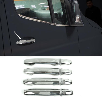 Chrome Side Door Handle Cover S.Steel 8 Pcs for Mercedes Sprinter 2019-2020 Omac Shop Usa - Auto Accessories
