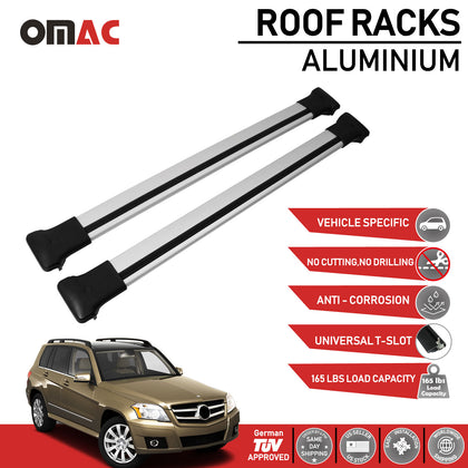 Roof Rack Cross Bars Luggage Carrier for Mercedes Benz GLK 2010-2015