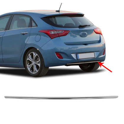 Chrome Rear Bumper Streamer Trim S. Steel Fits Hyundai Elantra GT 2012-2017