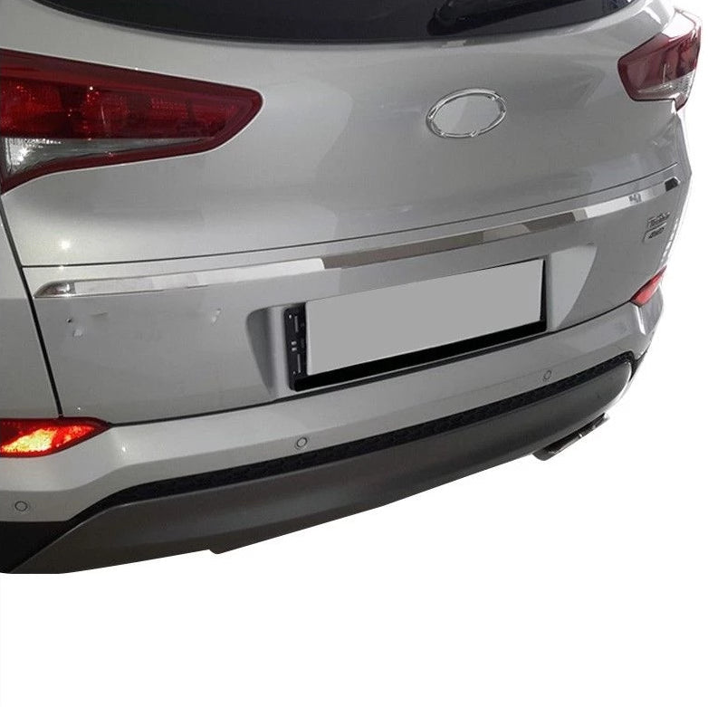 Fits Hyundai Tucson 2016-2018 Chrome Trunk Tailgate Trim Stainless Steel