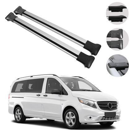 Roof Rack Cross Bars Luggage Carrier Fits Mercedes Vito W447 2016-2020
