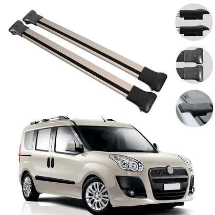 Roof Rack Cross Bars Luggage Carrier Bronze Alu for Fiat Doblo 2010-2020