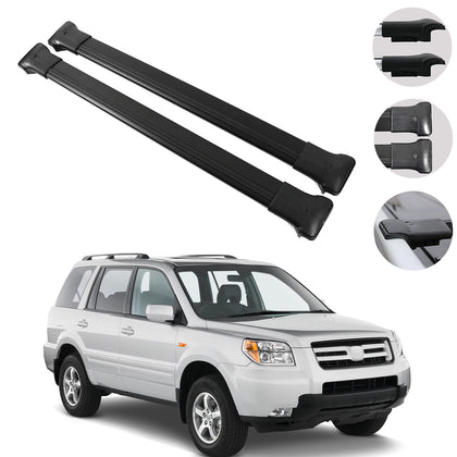 Roof Rack Cross Bars Luggage Carrier Black for Honda Pilot 2003-2008