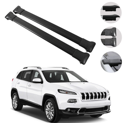 Roof Rack Cross Bars Luggage Carrier fits Jeep Cherokee Limited 2011-2020