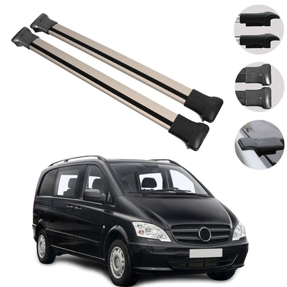 Roof Rack Cross Bars Bronze For Mercedes Vito W638 / W639 / W447 2003-2020
