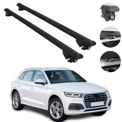 Roof Rack Cross Bars Cross Rail Aluminum Black 2 Pcs. For Audi Q5 SQ5 2009-2017
