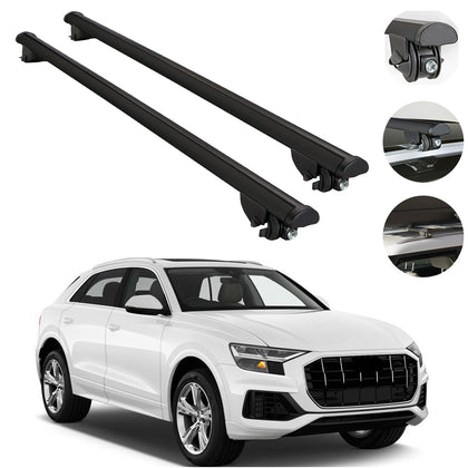 Roof Rack Cross Bars Luggage Carrier Silver fits Audi SQ5 2009-2017