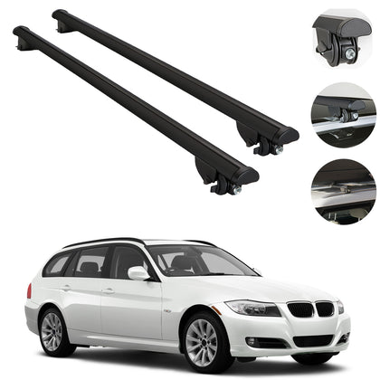 Roof Rack Cross Bars Cross Rail 2Pcs For BMW 3 Series E91 Sports Wagon 2011-2012