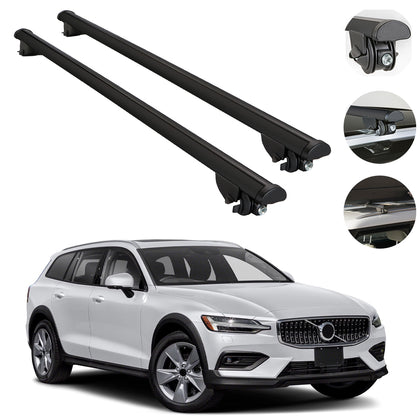 Roof Rack Cross Bars Cross Rail For Volvo V60 Cross Country Wagon 2015-2020