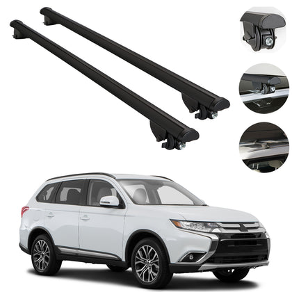 Roof Rack Cross Bars Cross Rail Black 2 Pcs. For Mitsubishi Outlander 2014-2020
