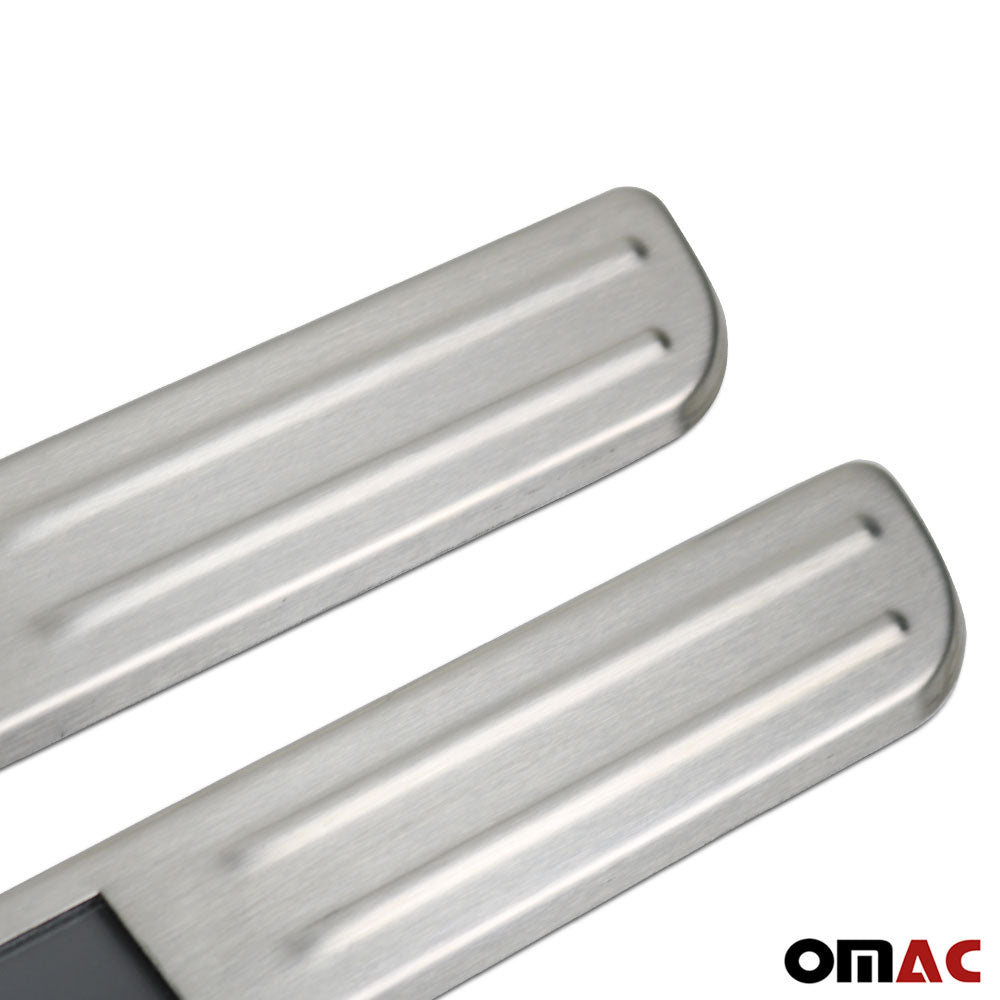 Fits Mitsubishi Outlander Sport 2011-2021 LED Chrome Brushed Door Sill 2 Pcs