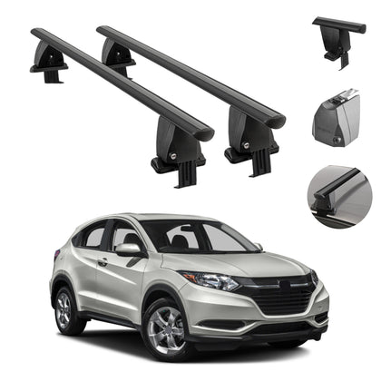 Fits Honda HR-V 2016-2021 Smooth Top Roof Rack Cross Bar Carrier Rail 2Pcs Black