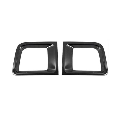 Fits Jeep Renegade 2015-2019 Front Bumper Trim Frame Dark Chrome 2 pcs Omac Shop Usa - Auto Accessories
