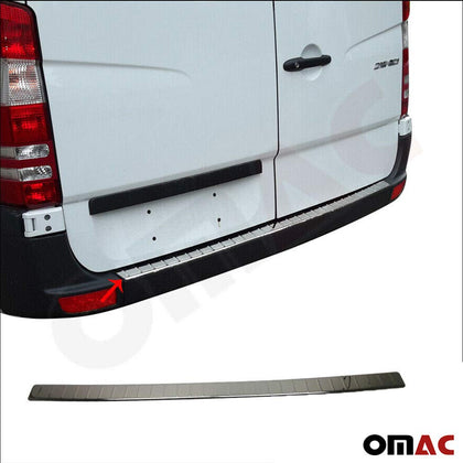 Fits Mercedes Sprinter 2007-2018 Chrome Rear Bumper Guard Trunk Sill Protector Omac Shop Usa - Auto Accessories