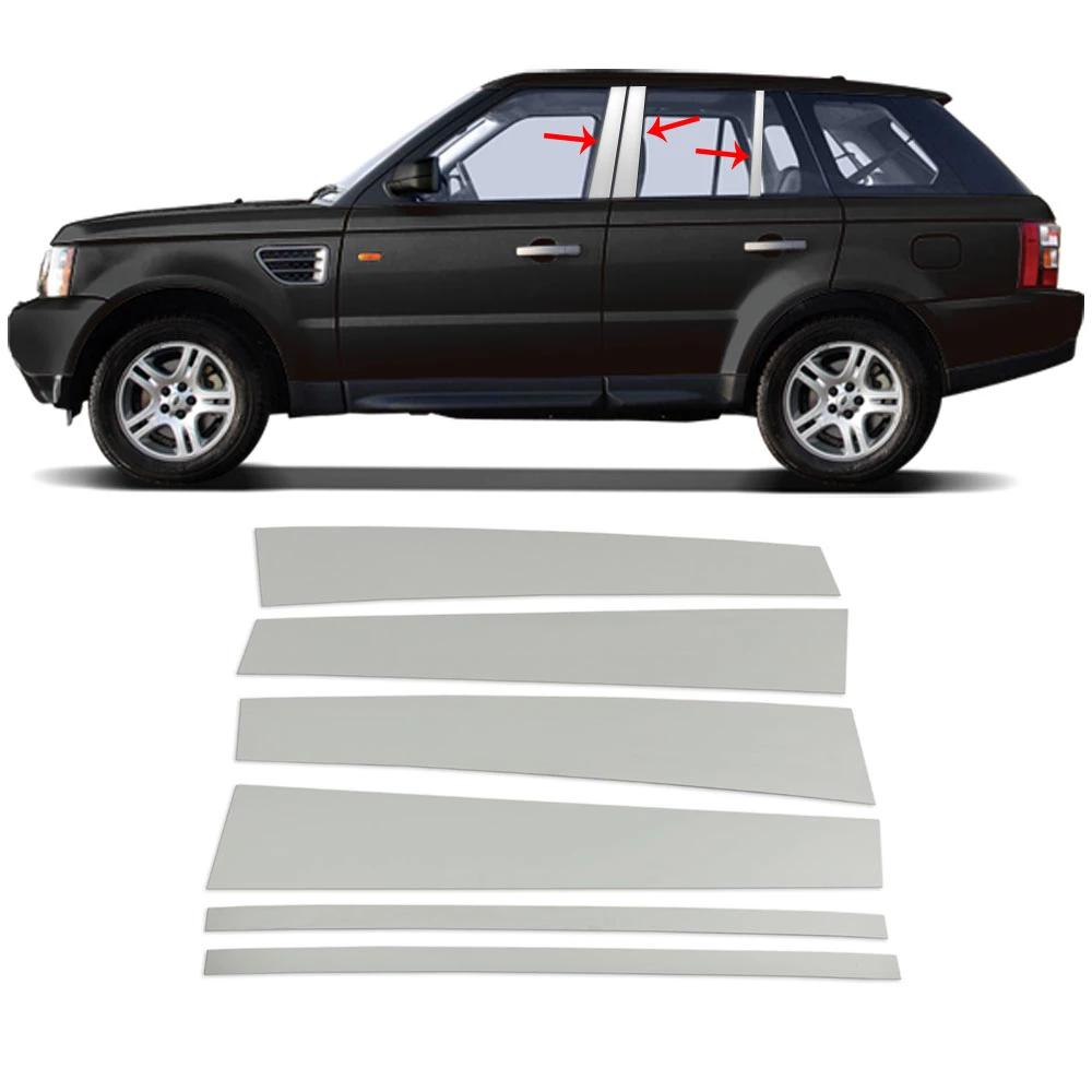 Fits Range Rover Sport 2006-2013 Chrome Window Panel B Pillar Trim S.Steel