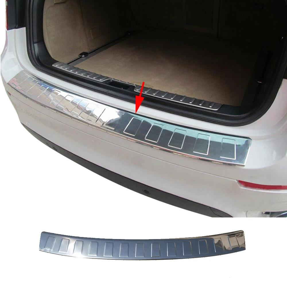 Fits BMW X6 E71 2008-2014 Chrome Rear Bumper Guard Trunk Sill Protector S.Steel