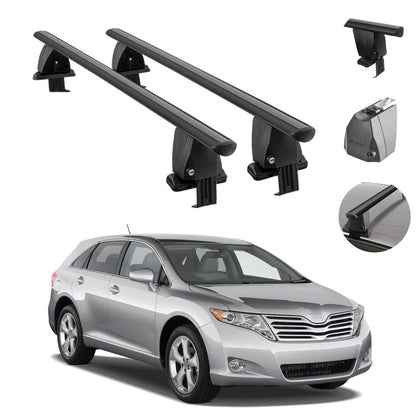 Fits Toyota Venza 2009-2015 Smooth Top Roof Rack Cross Bar Carrier Rail Black
