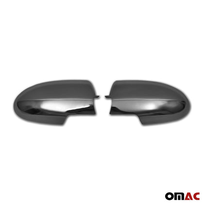 Dark Chrome Side Mirror Cover Cap 2 Pcs For Hyundai Accent 2006-2011