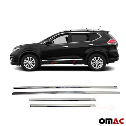 For Nissan Rogue 2014-2020 Chrome Side Door Trim Guard S.Steel 4 Pcs