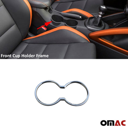 Front inner Cup Holder Chrome Frame Fits Hyundai Veloster 2011-2019