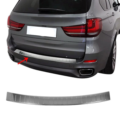 Fits BMW X5 F15 2014-2018 Chrome Rear Bumper Guard Trunk Sill Protector S.Steel Omac Shop Usa - Auto Accessories