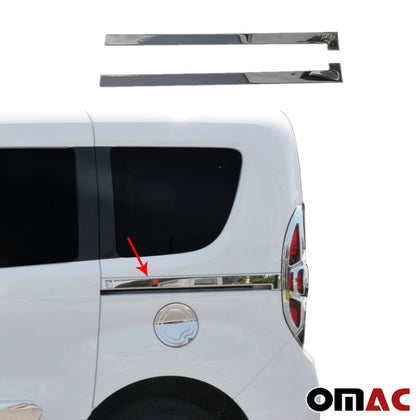 For Fiat Doblo 2010-2020 Chrome Side Sliding Door Trim S.Steel 2 Pcs