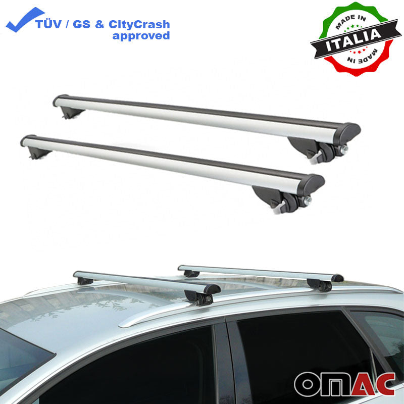 Roof Rack Cross Bars Luggage Carrier Silver  for Audi A6 Avant 2005-2011