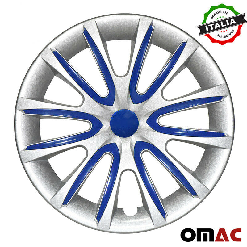 "16"" Inch Hubcaps Wheel Rim Cover Gray & Dark Blue for Ford F-Series 4pcs Set"