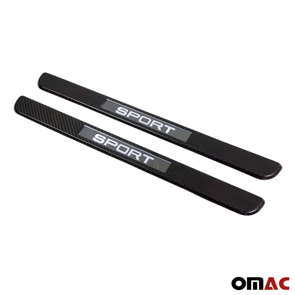 For Mercedes-Benz S-Class LED Genuine Carbon Fiber Door Sill Cover Sport 2 Pcs