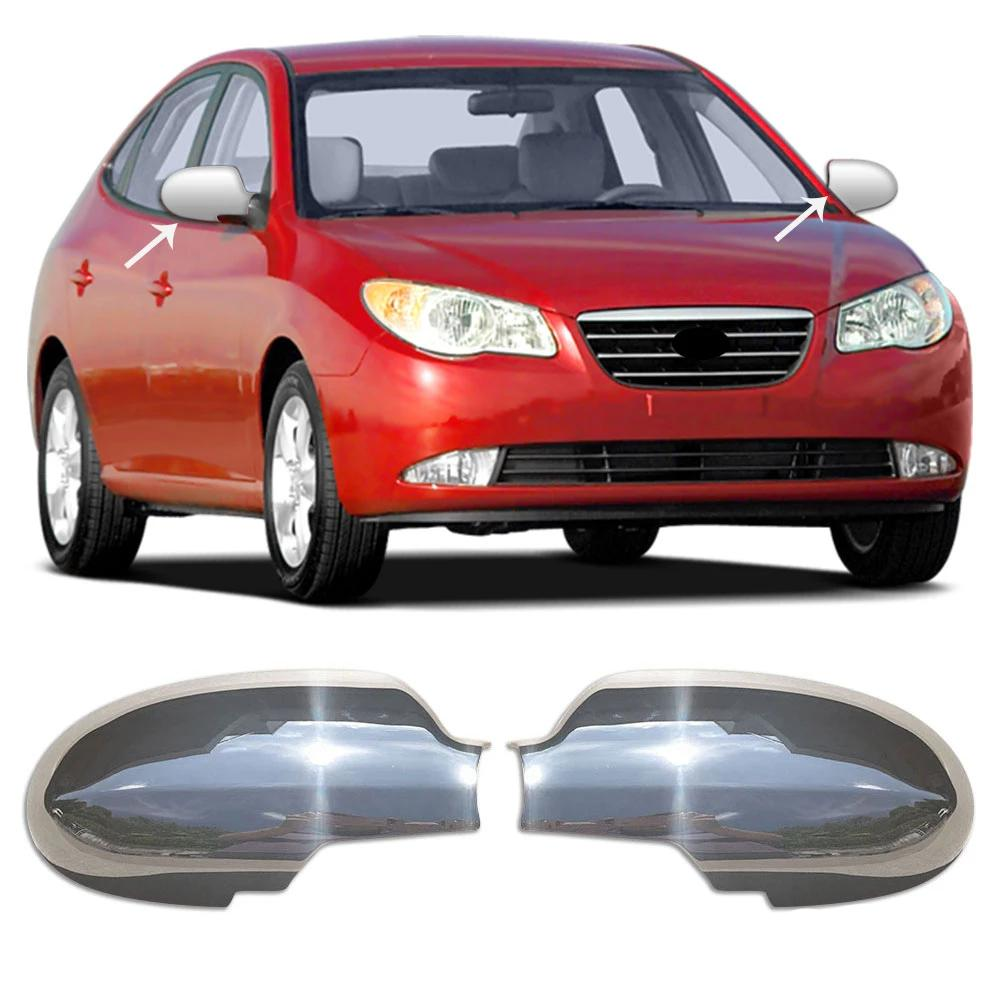Fits Hyundai Elantra 2007-2010 Chrome Side Mirror Cover Cap Protector 2 Pcs