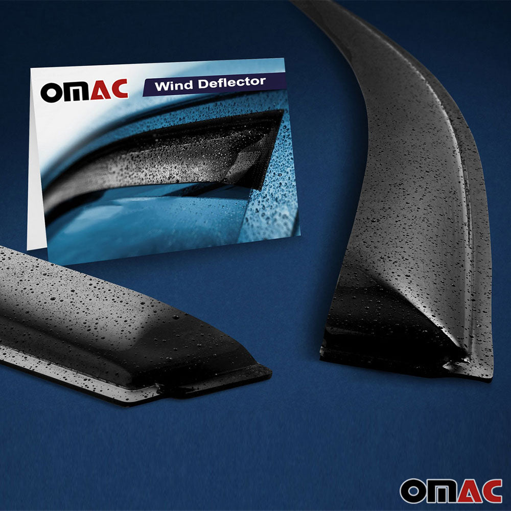 Window Visor Vent Sun Shade Rain Guard 4 Pcs Fits Ford Escape 2013-2019